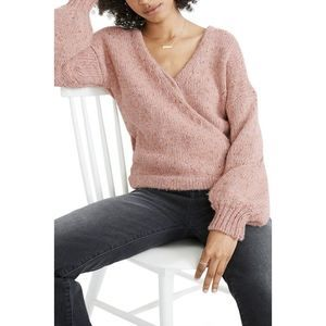 Madewell Beresford Faux Wrap Front Sweater Medium